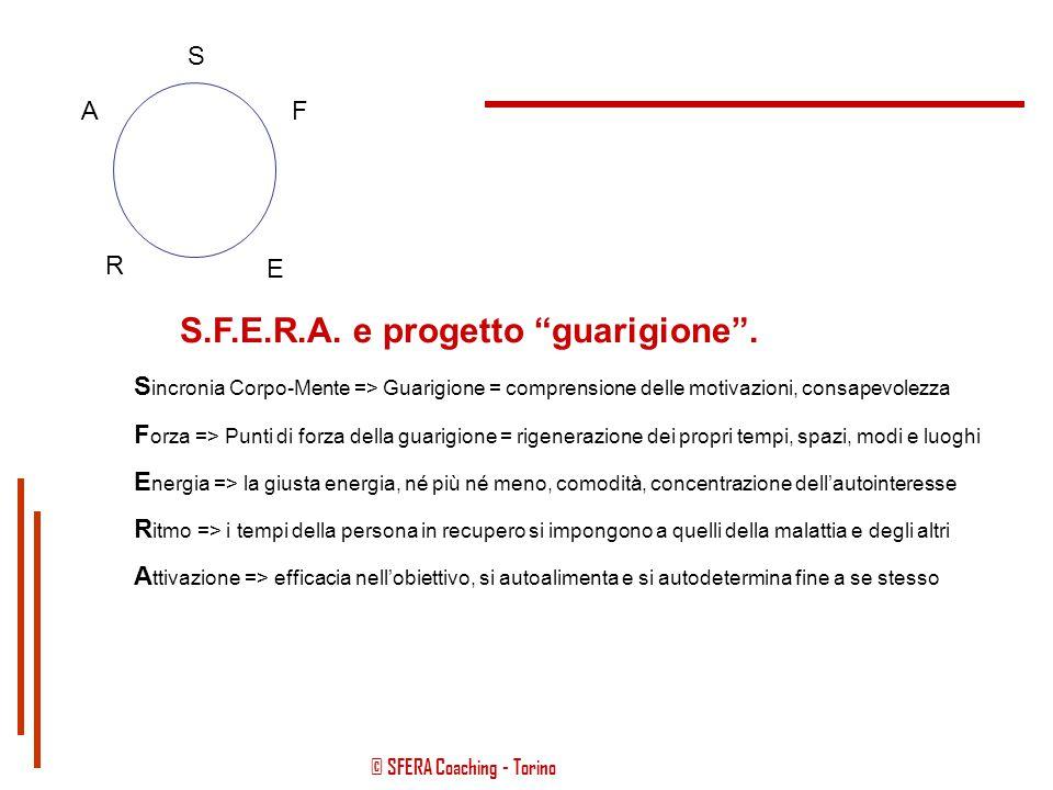 S.F.E.R.A. e progetto guarigione .
