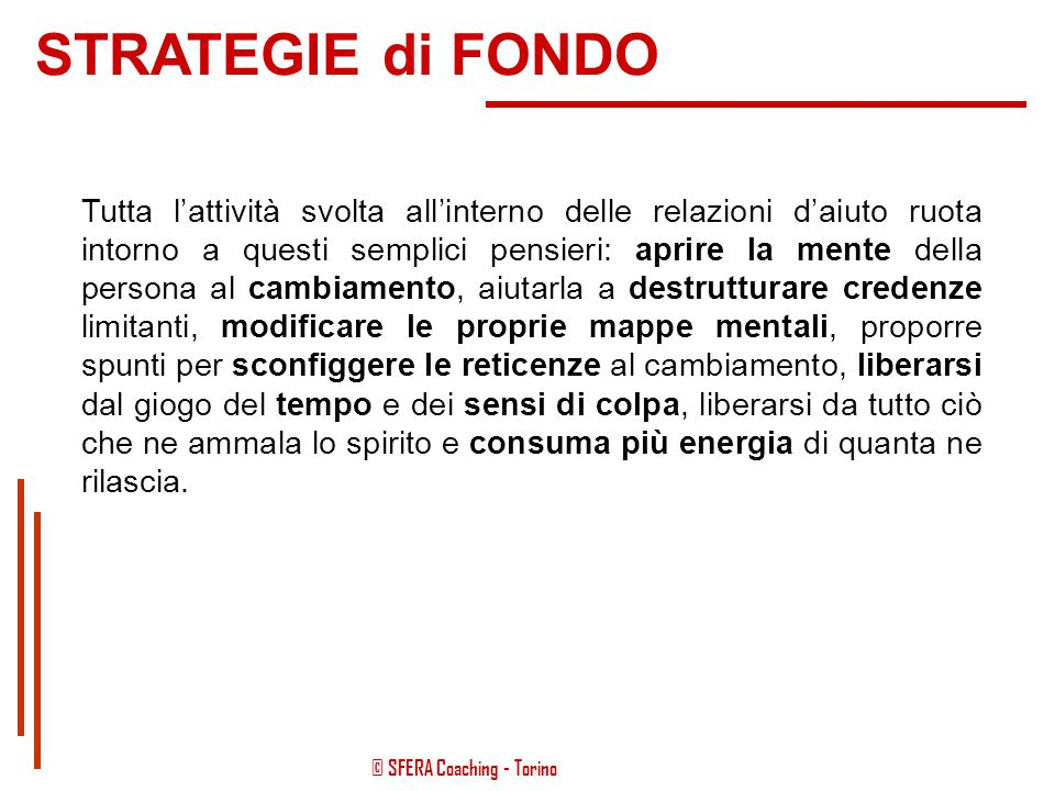 STRATEGIE di FONDO