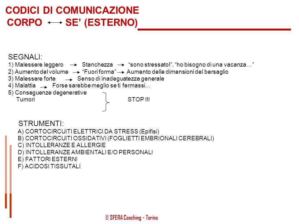 CODICI DI COMUNICAZIONE CORPO SE' (ESTERNO)