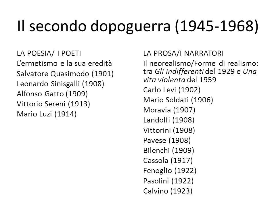 Il secondo dopoguerra (1945-1968)