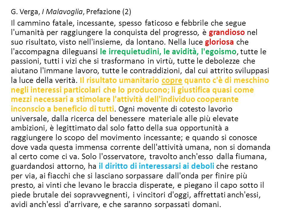 G. Verga, I Malavoglia, Prefazione (2)