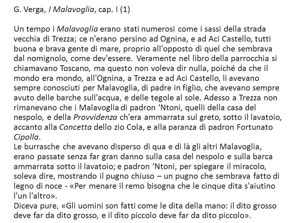 G. Verga, I Malavoglia, cap. I (1)
