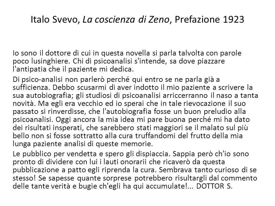 Italo Svevo, La coscienza di Zeno, Prefazione 1923