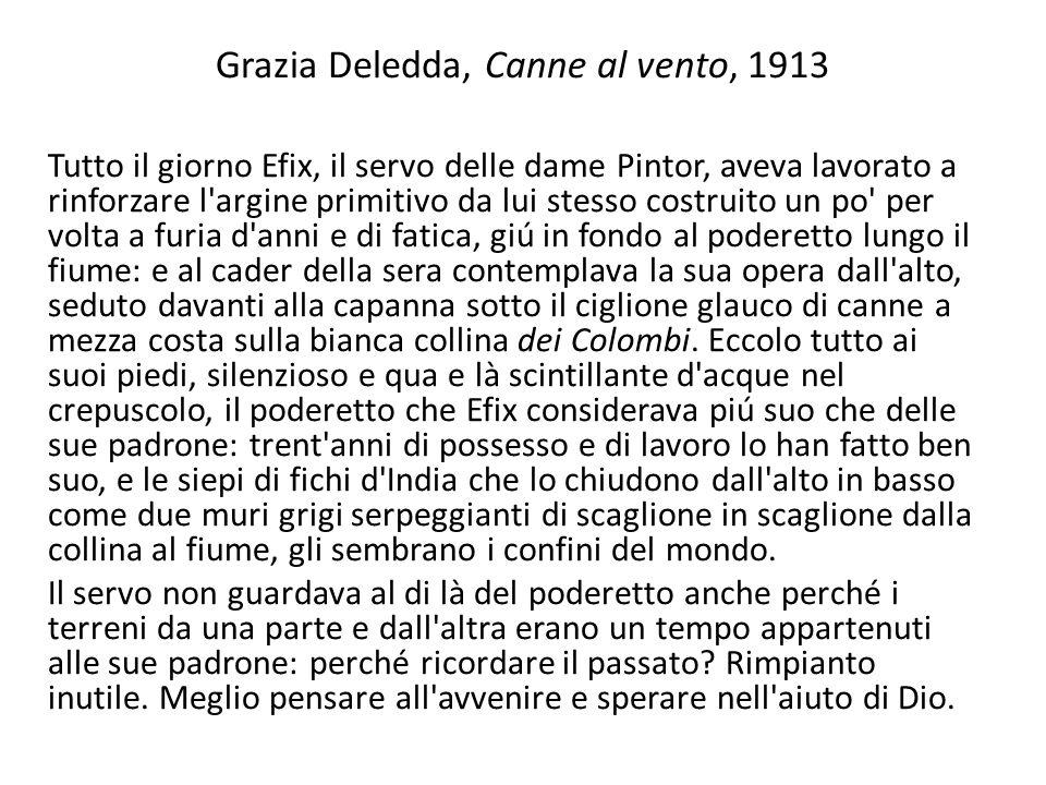 Grazia Deledda, Canne al vento, 1913