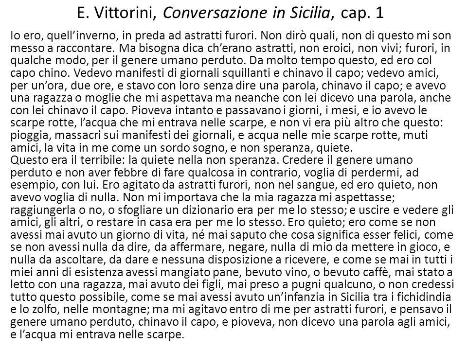 E. Vittorini, Conversazione in Sicilia, cap. 1