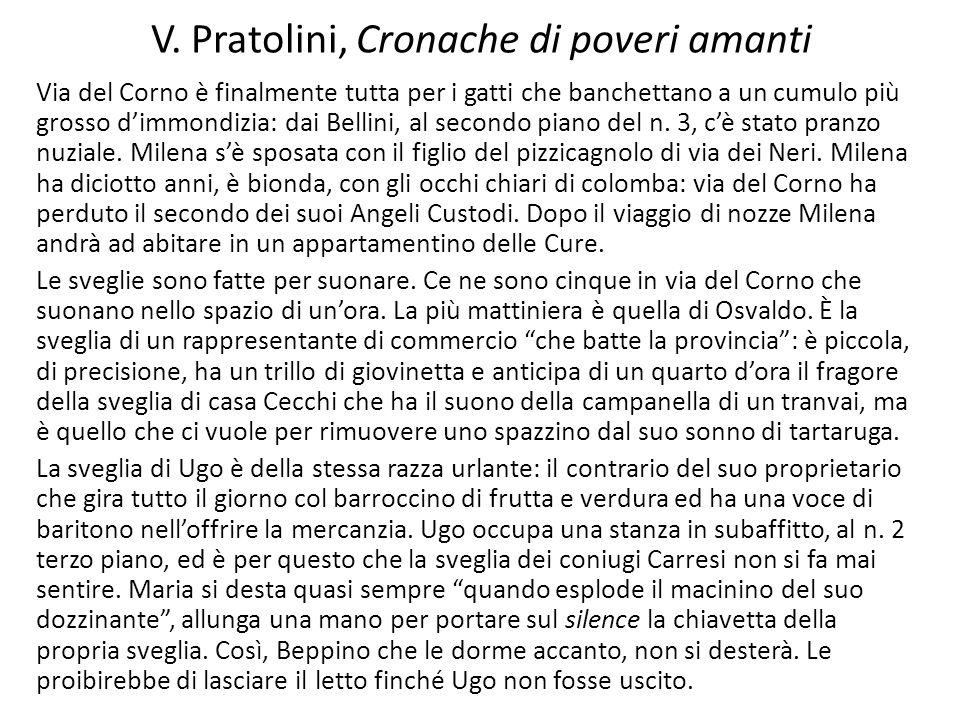 V. Pratolini, Cronache di poveri amanti