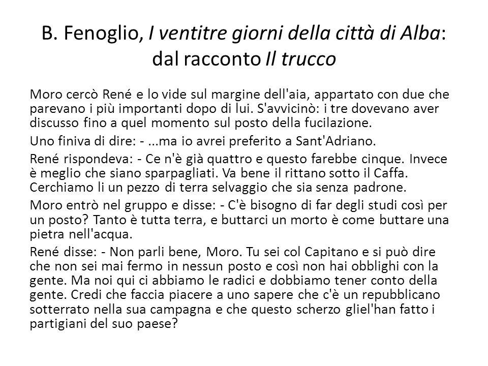 B. Fenoglio, I ventitre giorni della città di Alba: dal racconto Il trucco