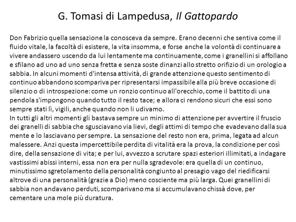 G. Tomasi di Lampedusa, Il Gattopardo