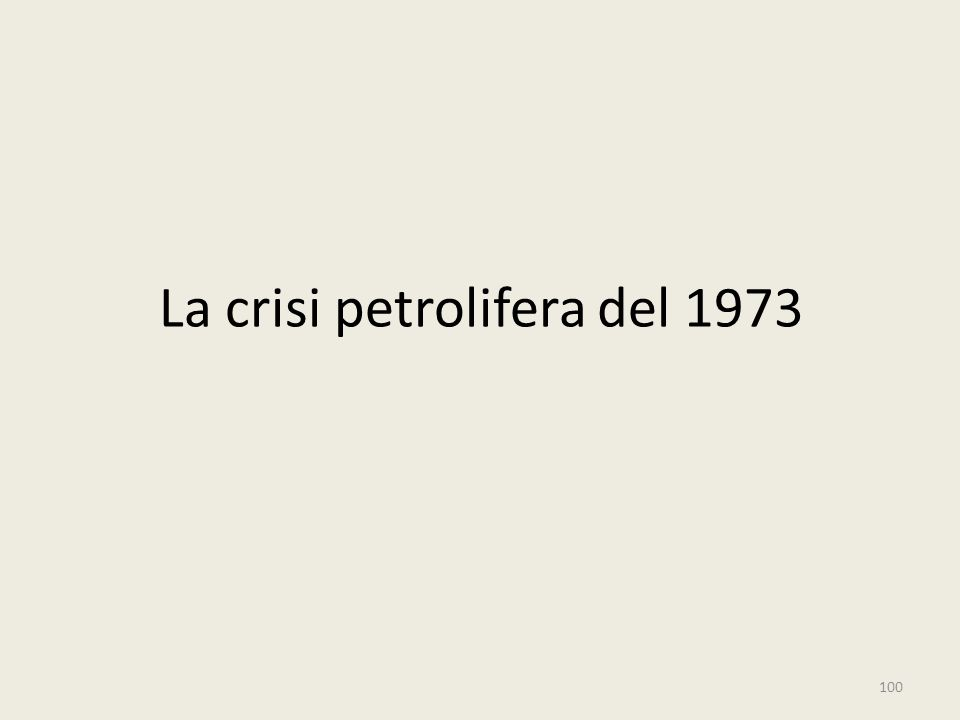 La crisi petrolifera del 1973