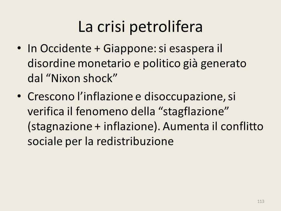 La crisi petrolifera In Occidente + Giappone: si esaspera il disordine monetario e politico già generato dal Nixon shock