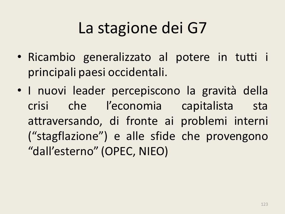 La stagione dei G7 Ricambio generalizzato al potere in tutti i principali paesi occidentali.