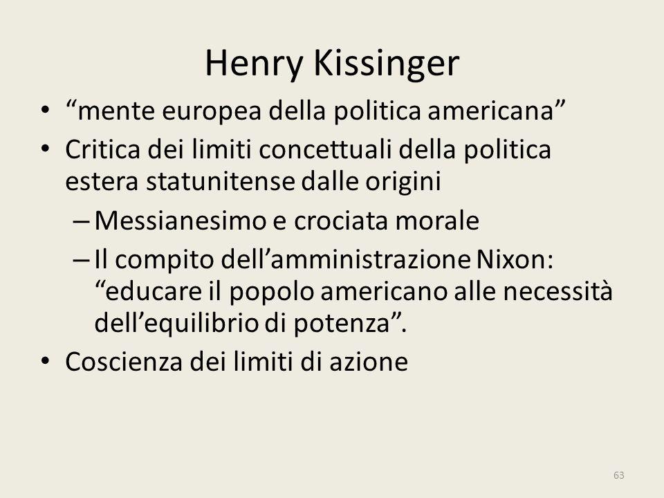 Henry Kissinger mente europea della politica americana
