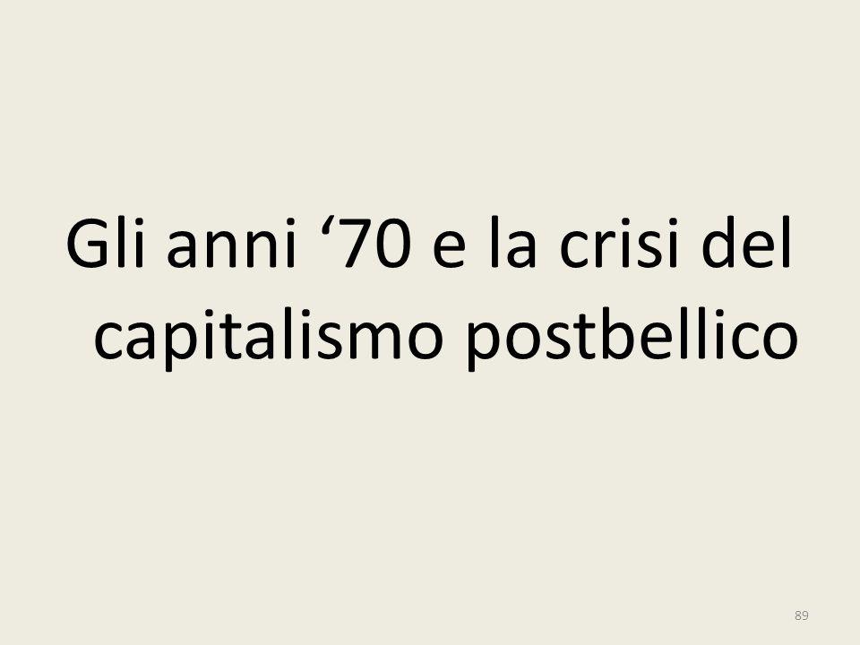 Gli anni '70 e la crisi del capitalismo postbellico
