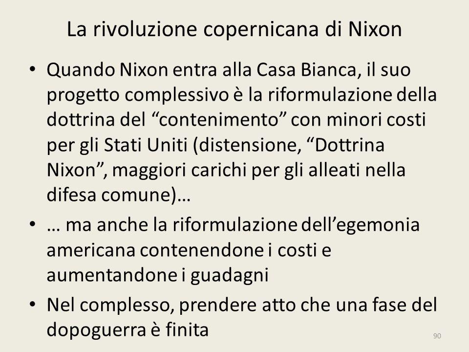 La rivoluzione copernicana di Nixon