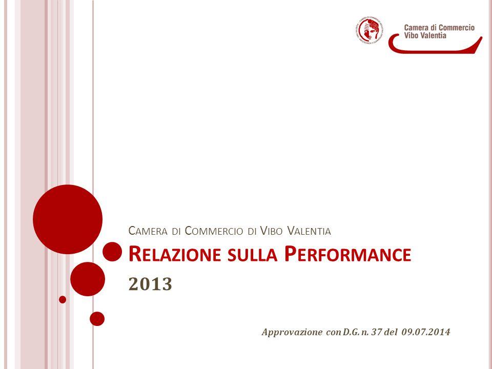 Camera di Commercio di Vibo Valentia Relazione sulla Performance