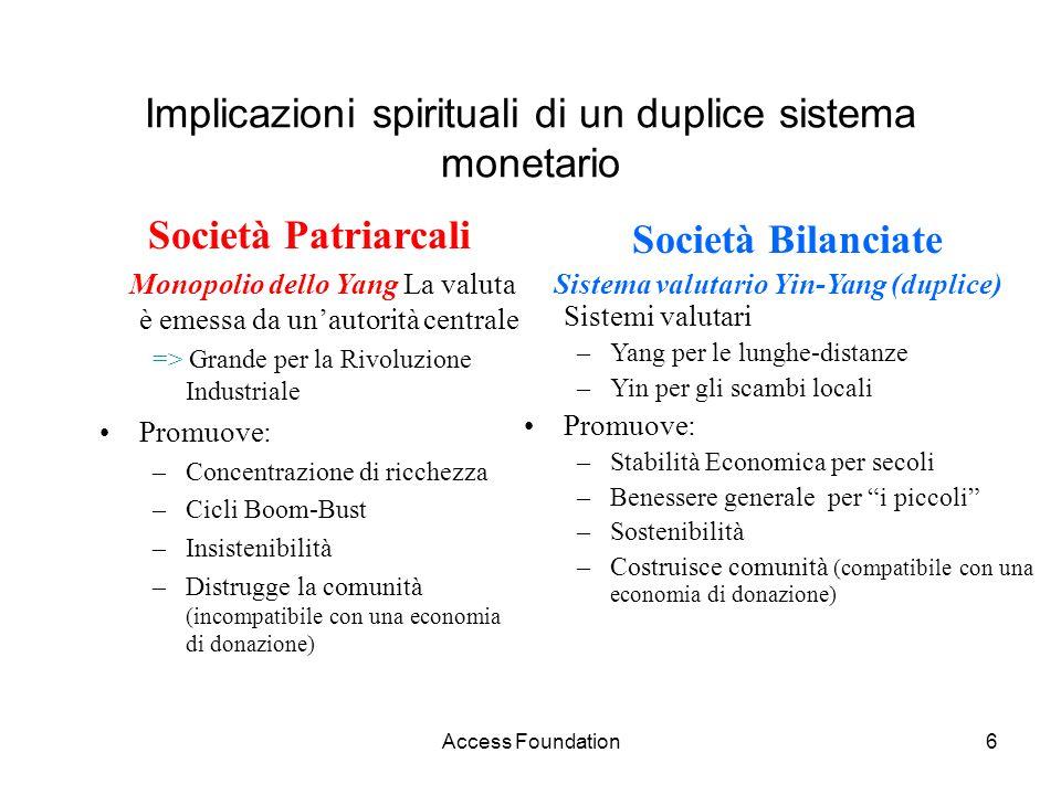 Implicazioni spirituali di un duplice sistema monetario