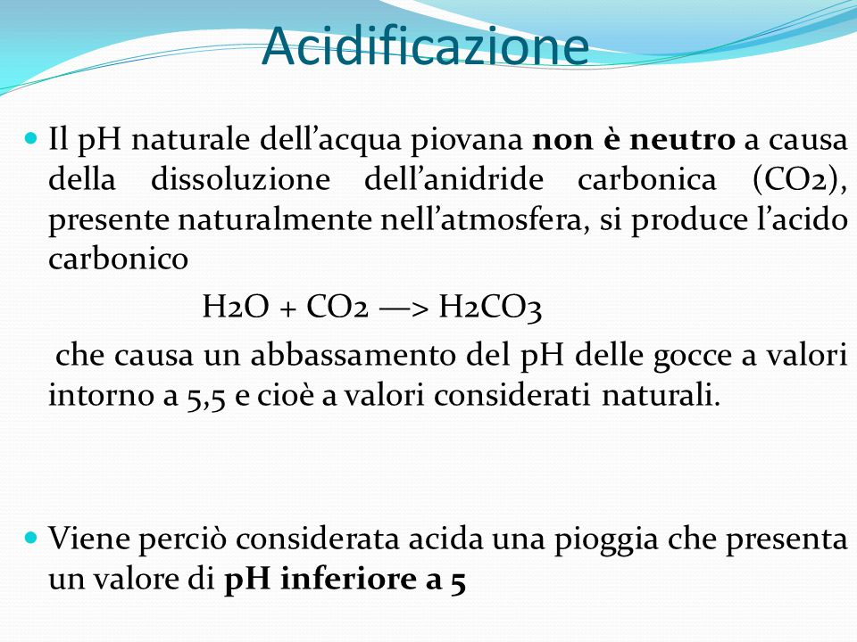 Acidificazione