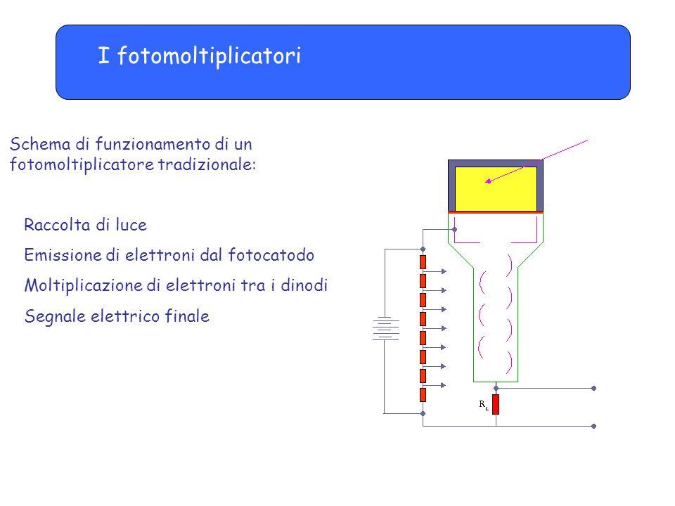 I fotomoltiplicatori Schema di funzionamento di un fotomoltiplicatore tradizionale: Raccolta di luce.