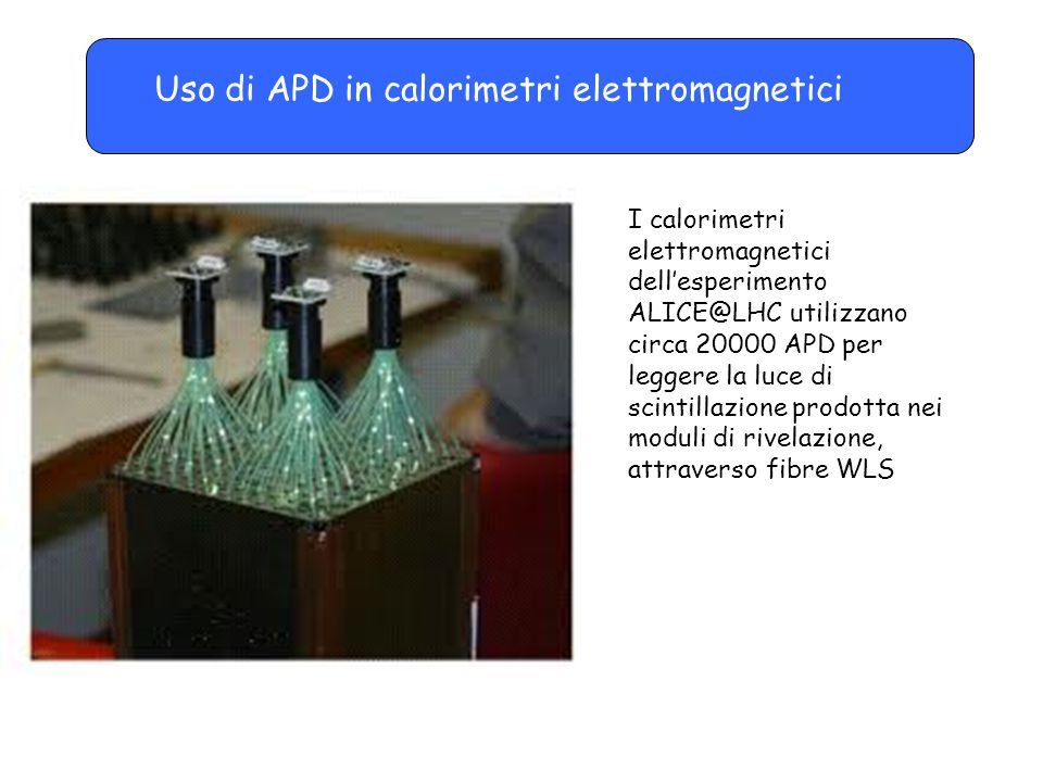 Uso di APD in calorimetri elettromagnetici
