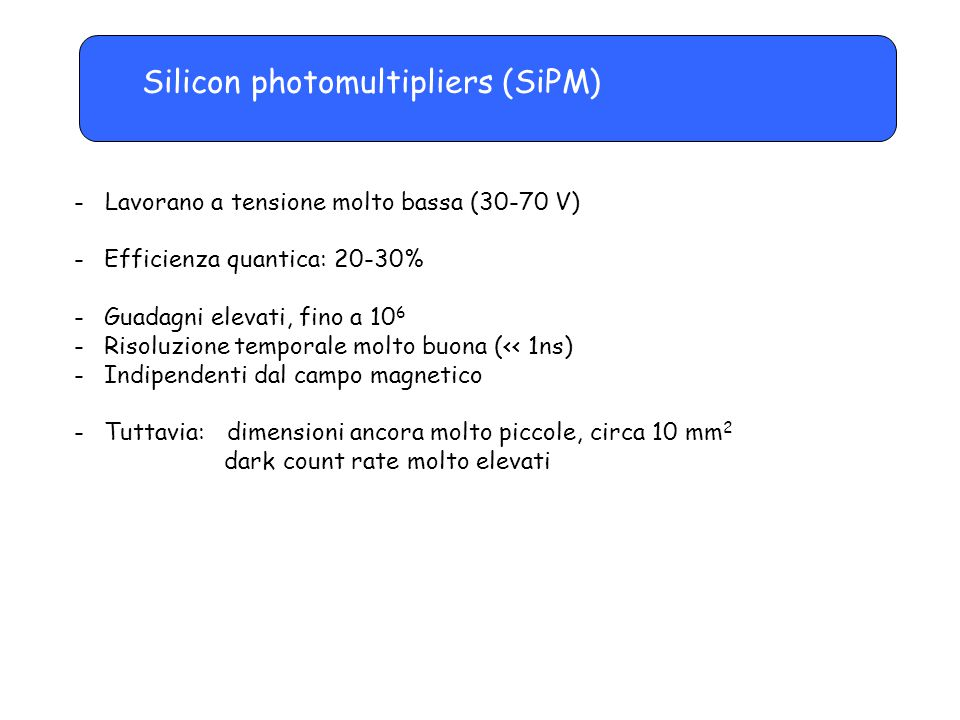 Silicon photomultipliers (SiPM)