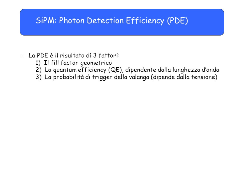 SiPM: Photon Detection Efficiency (PDE)