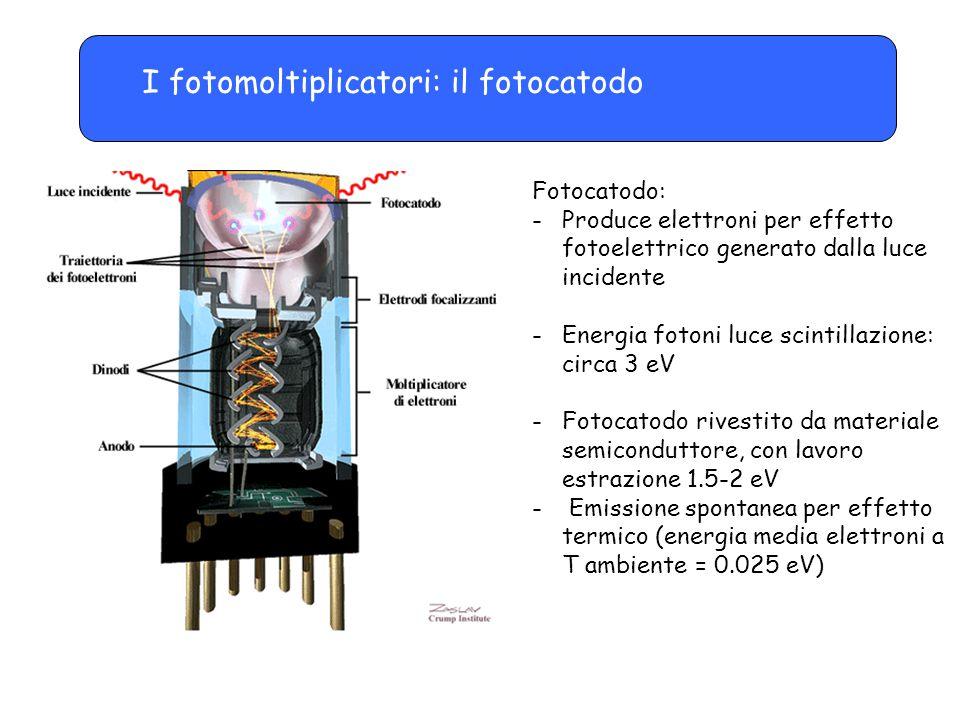 I fotomoltiplicatori: il fotocatodo