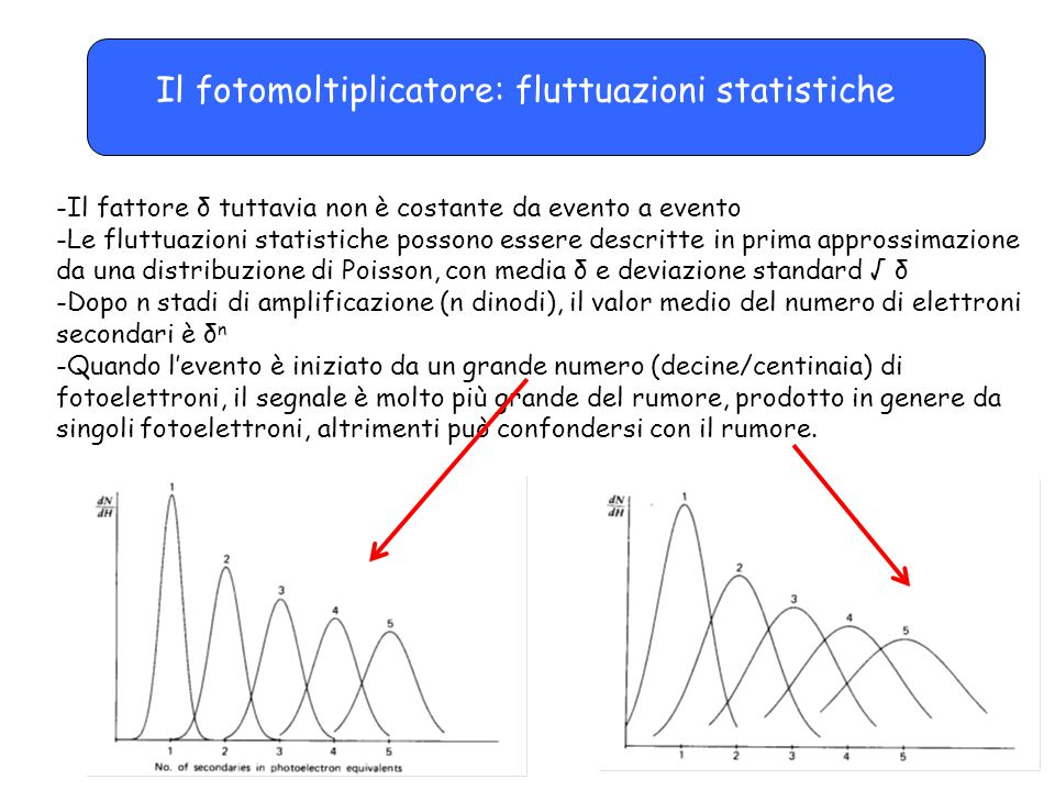 Il fotomoltiplicatore: fluttuazioni statistiche