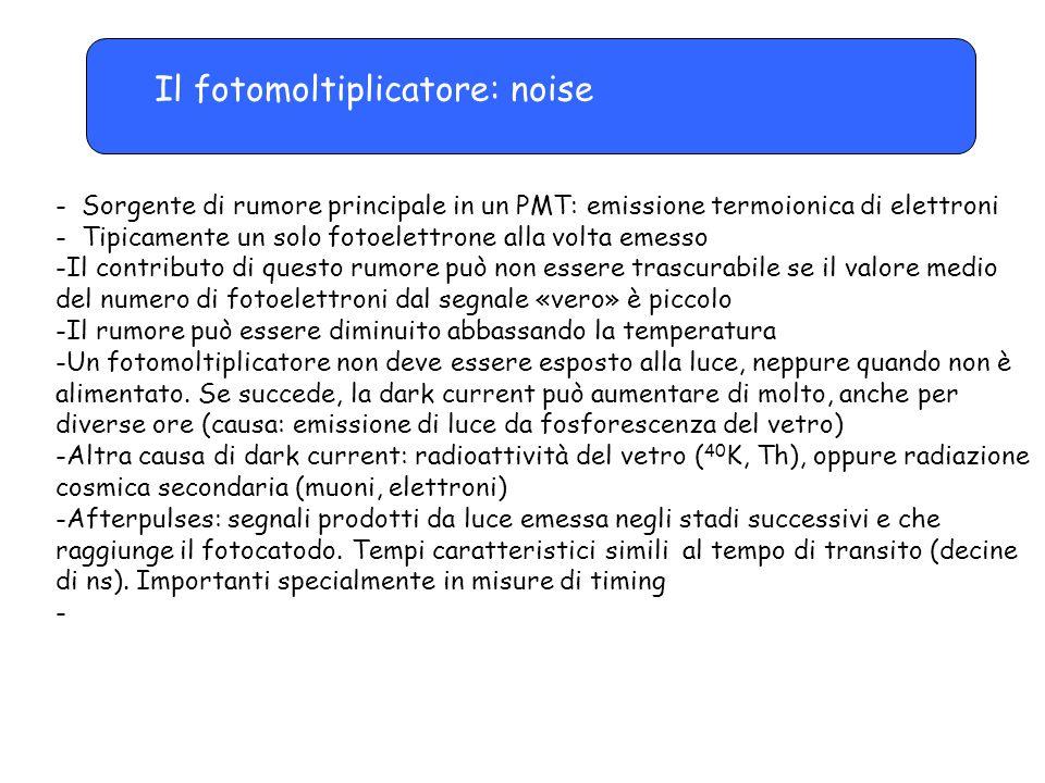 Il fotomoltiplicatore: noise