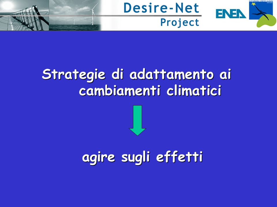 Strategie di adattamento ai cambiamenti climatici