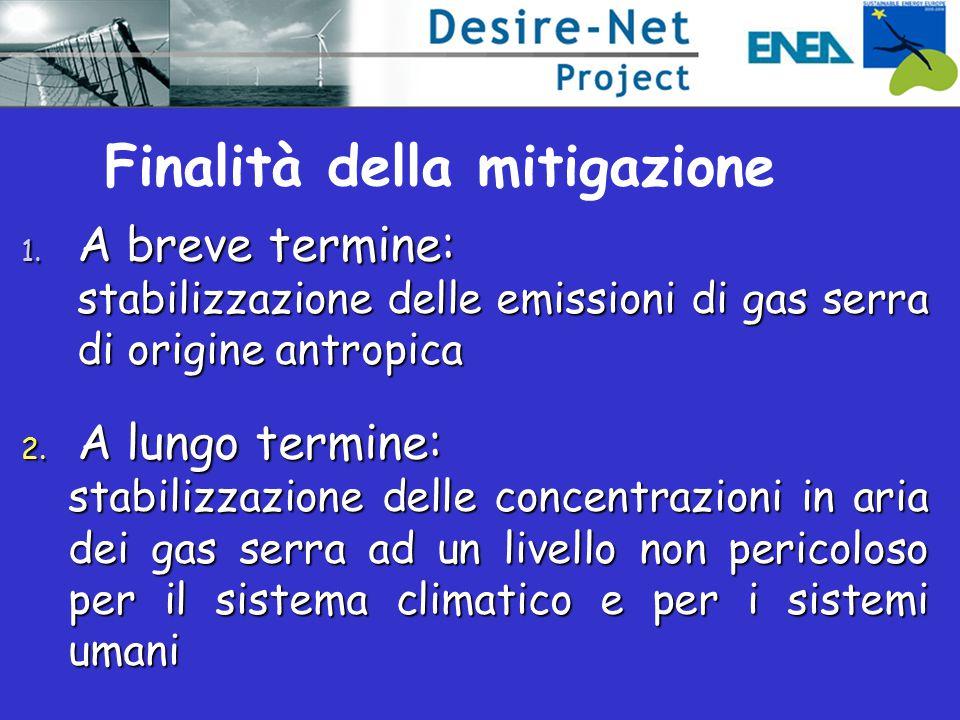 Finalità della mitigazione