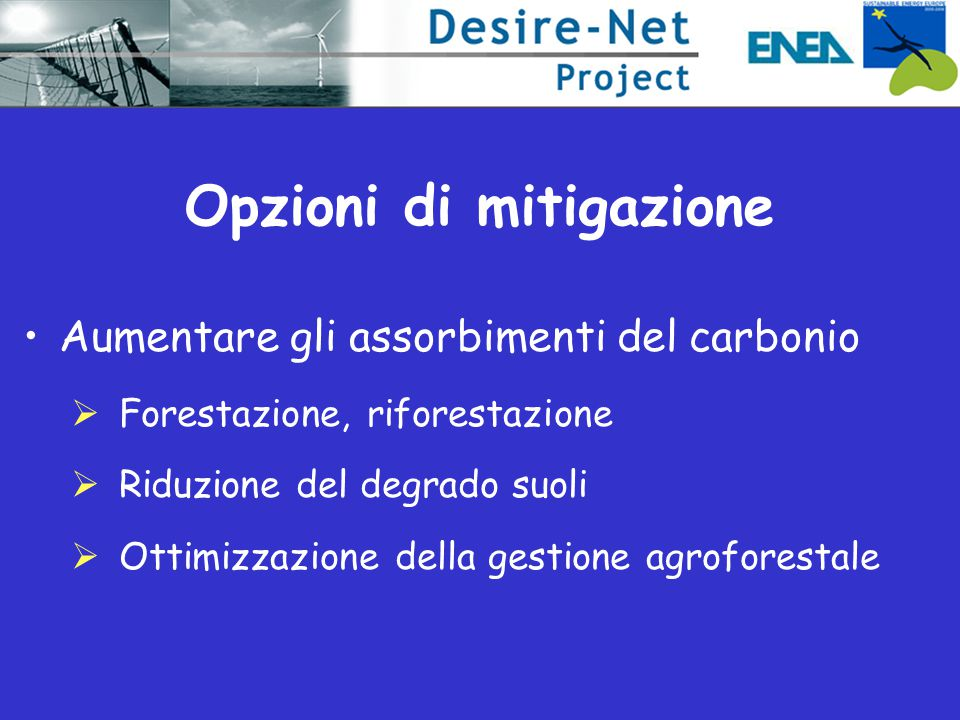 Opzioni di mitigazione
