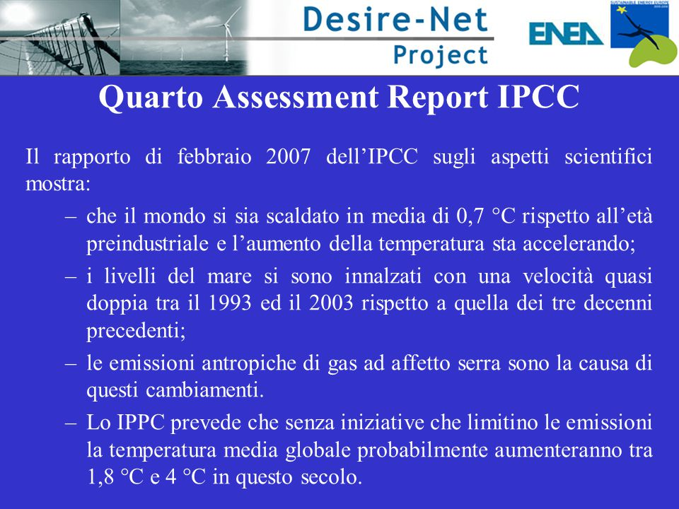 Quarto Assessment Report IPCC