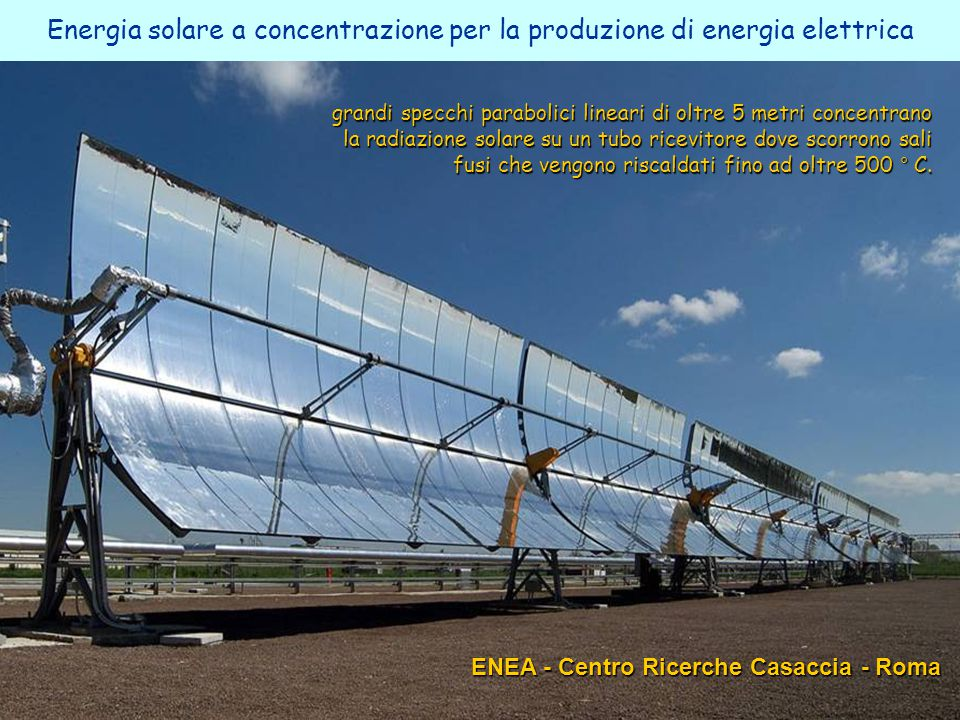 Energia solare a concentrazione per la produzione di energia elettrica