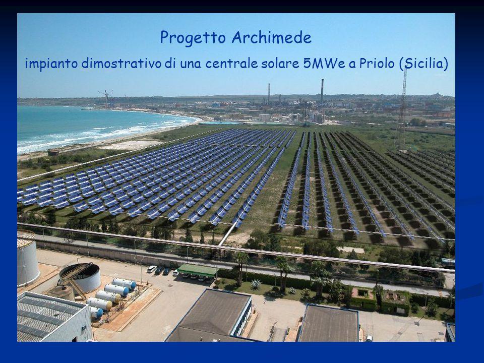 impianto dimostrativo di una centrale solare 5MWe a Priolo (Sicilia)