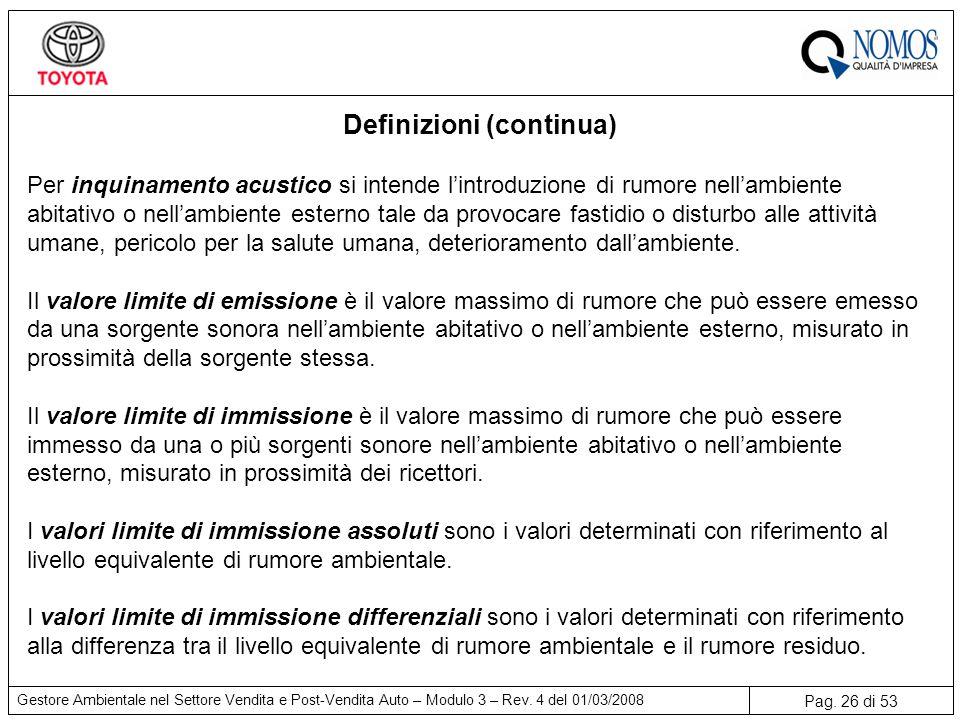 Definizioni (continua)