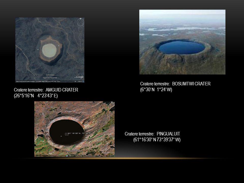 Cratere terrestre: PINGUALUIT (61°16'30 N 73°39'37 W)