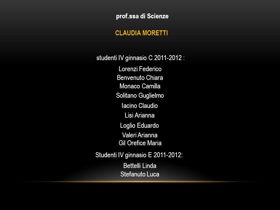 studenti IV ginnasio C 2011-2012 :