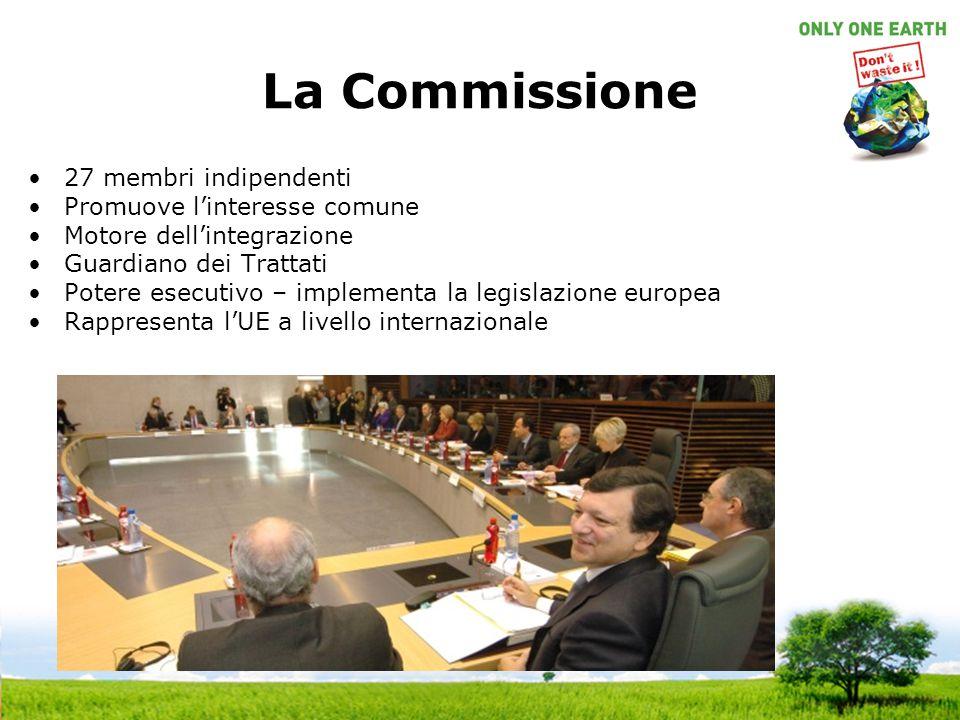 La Commissione 27 membri indipendenti Promuove l'interesse comune
