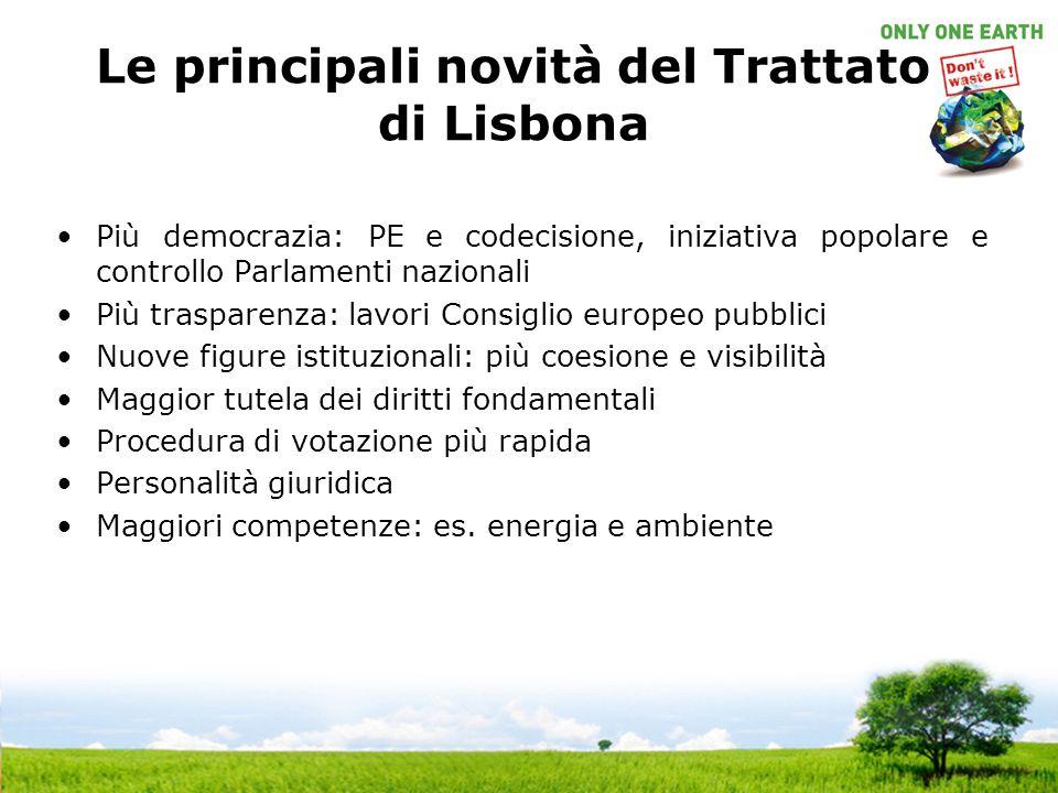 Le principali novità del Trattato di Lisbona