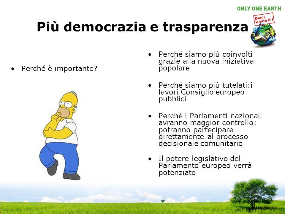 Più democrazia e trasparenza