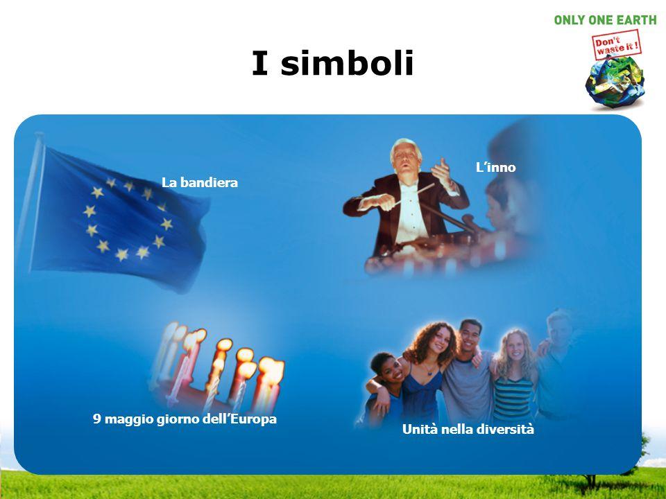 I simboli L'inno La bandiera 9 maggio giorno dell'Europa