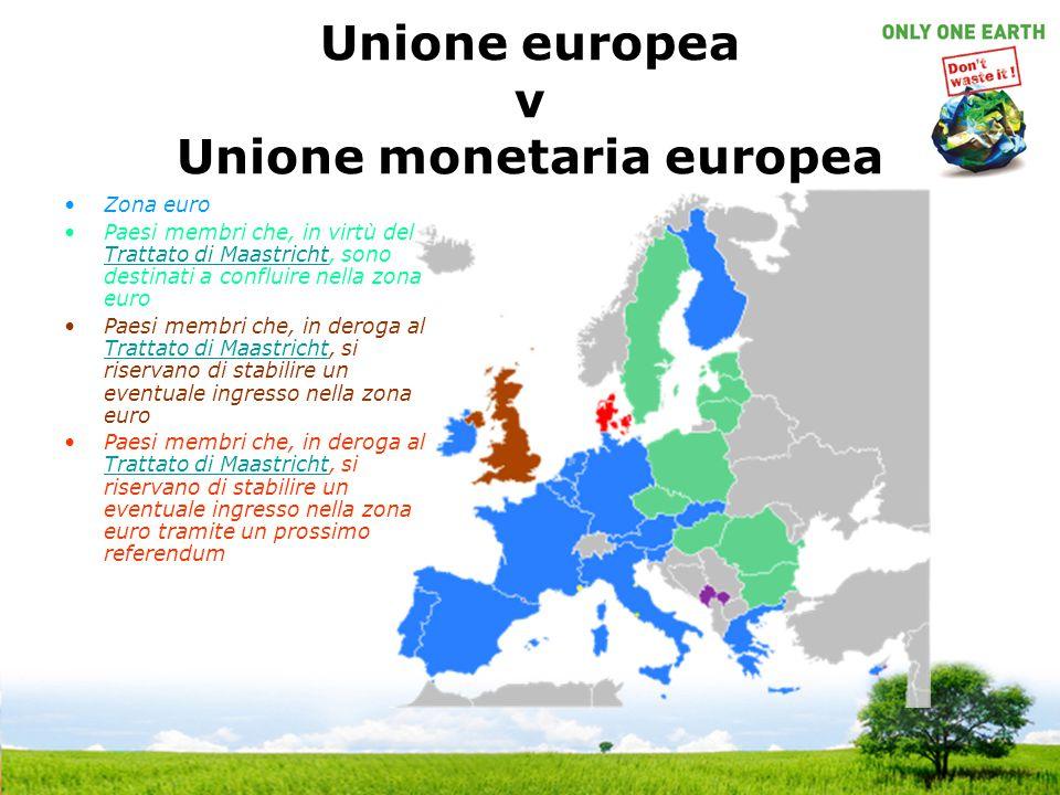 Unione europea v Unione monetaria europea
