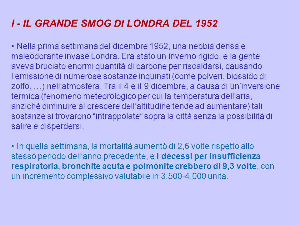 I - IL GRANDE SMOG DI LONDRA DEL 1952