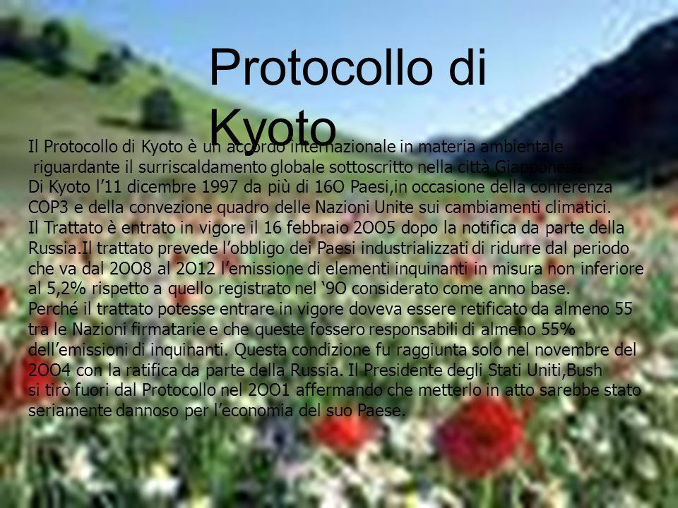 Protocollo di Kyoto Protocollo di Kyoto