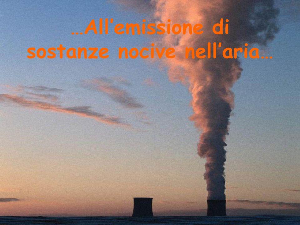 …All'emissione di sostanze nocive nell'aria…