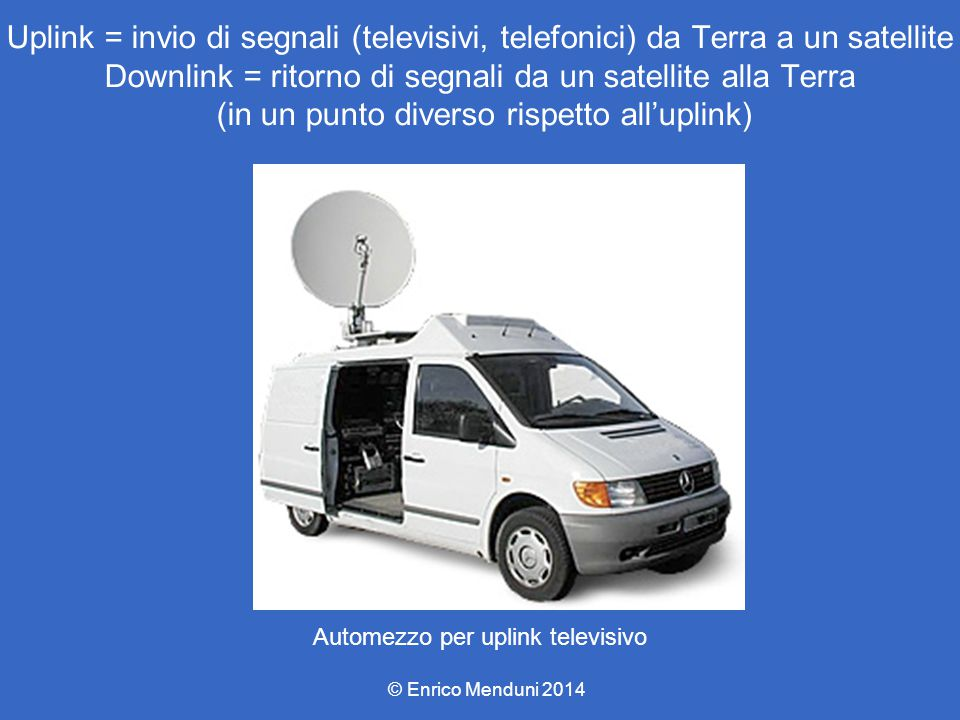 Automezzo per uplink televisivo