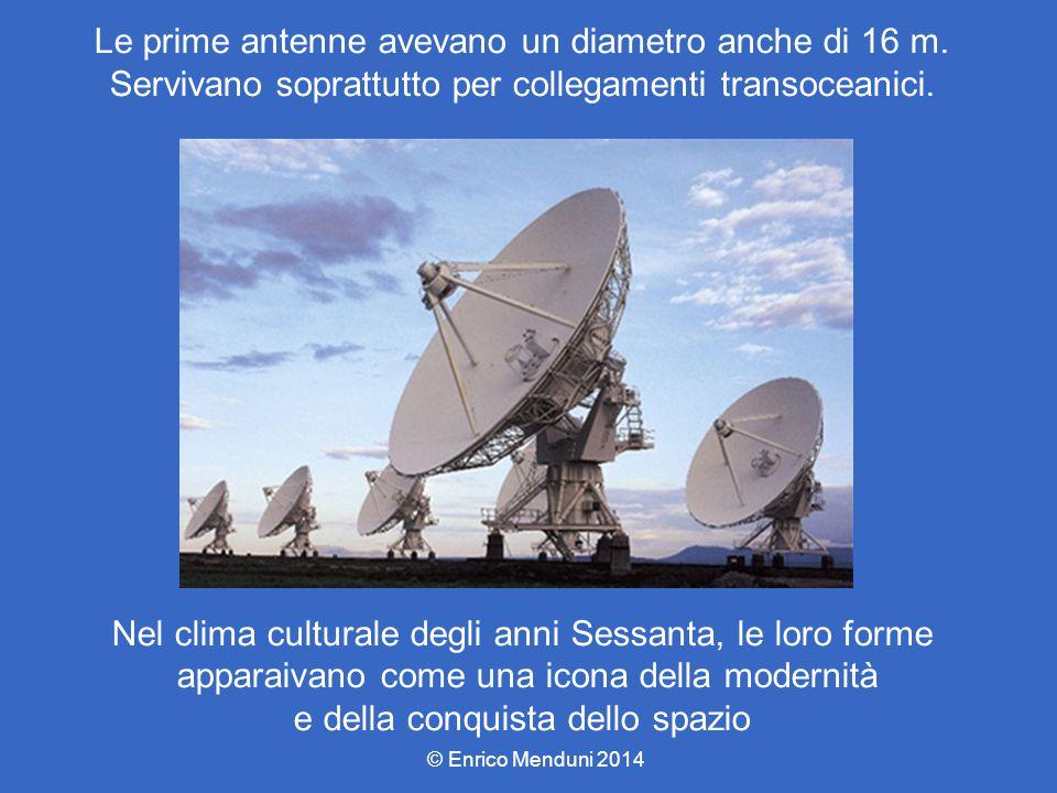 Le prime antenne avevano un diametro anche di 16 m