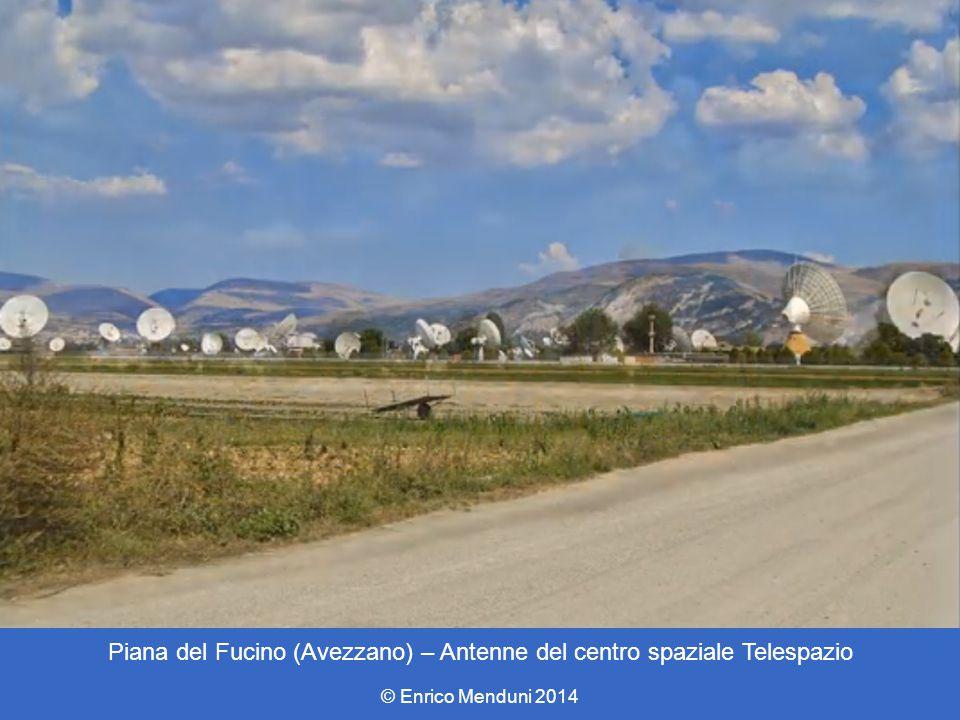 Piana del Fucino (Avezzano) – Antenne del centro spaziale Telespazio