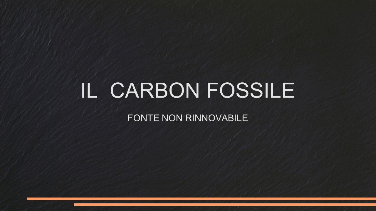 IL CARBON FOSSILE FONTE NON RINNOVABILE