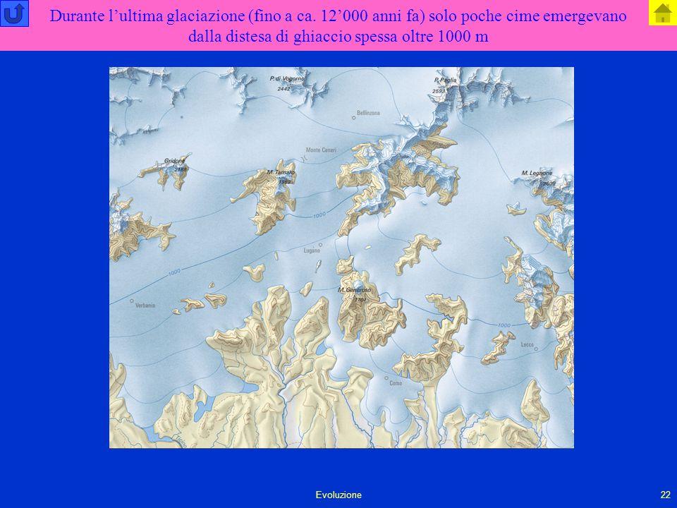 Durante l'ultima glaciazione (fino a ca